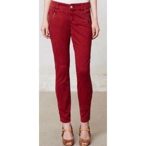 Anthropology Pilcro Serif Zip Moto Pants